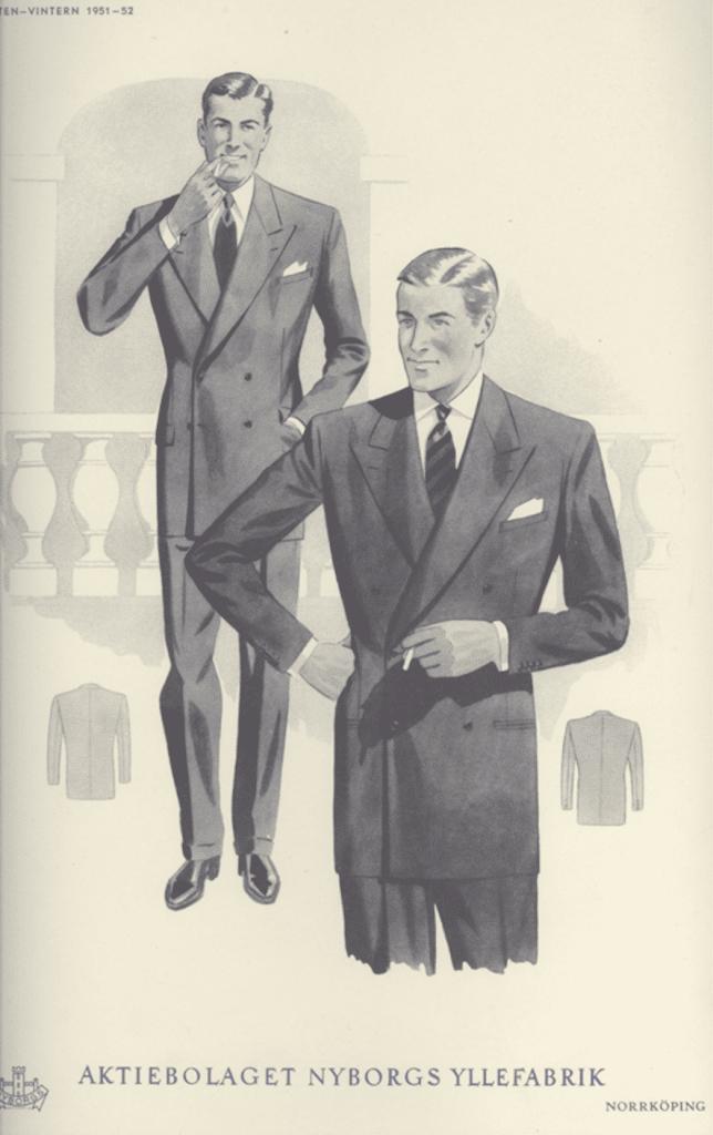 1950-tal mode herrmode