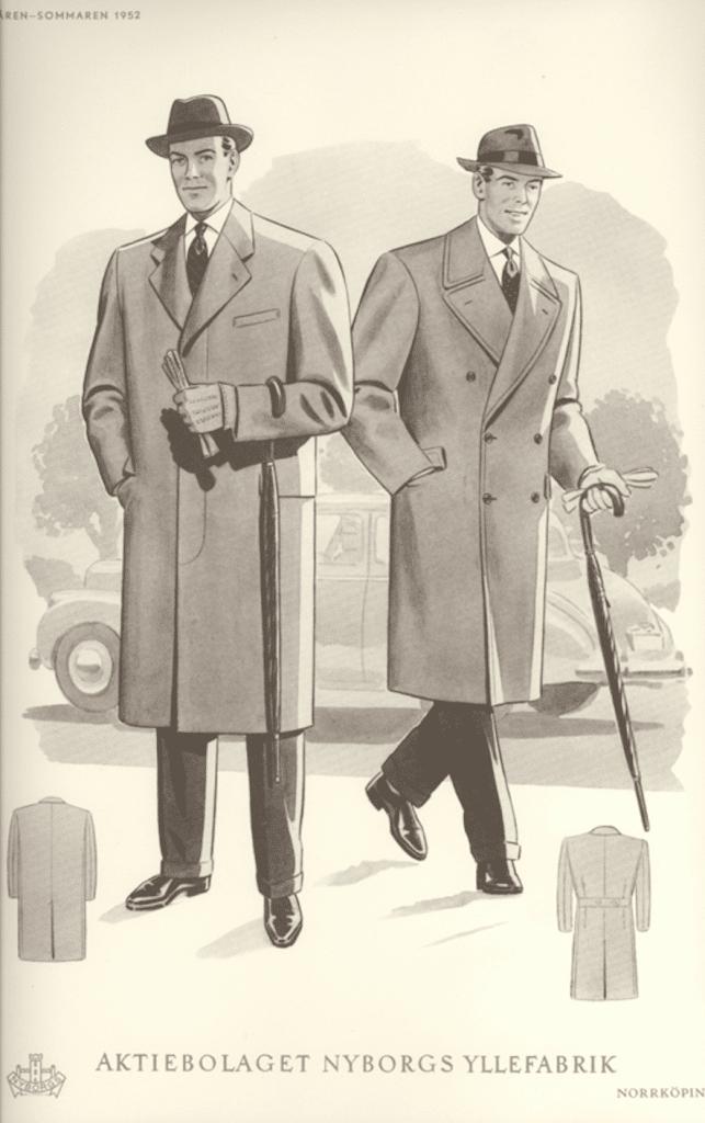 1950-tal mode för män