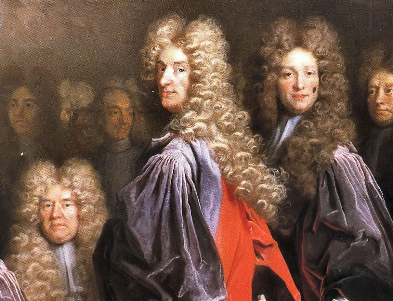 peruker på 1700-talet
