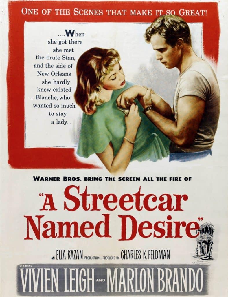 klassiska filmer vit t-shirt 1950-tal