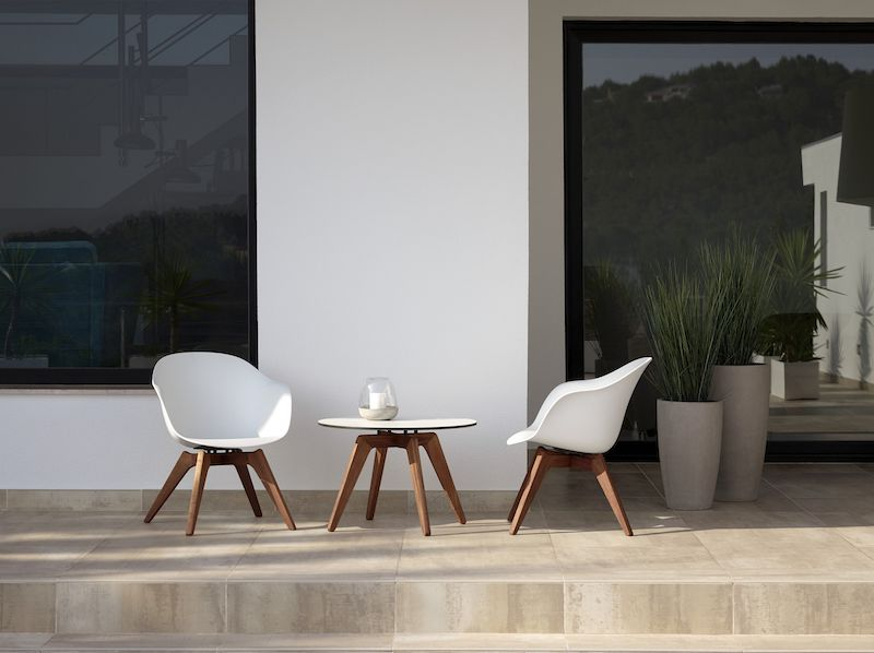 loungestol inredningstrender för uteplatsen 2020
