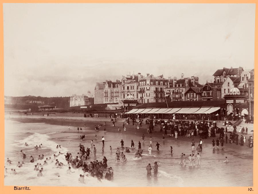 Strandbild från Biarritz, 1886