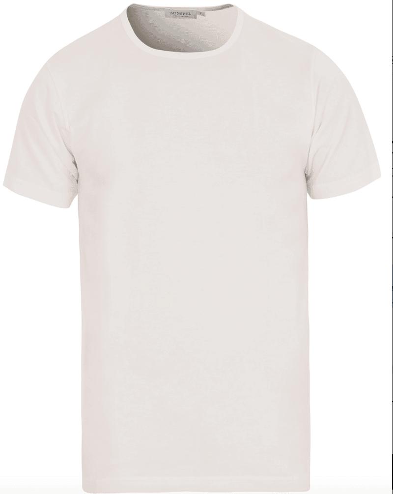 klassisk vit t-shirt från Sunspel