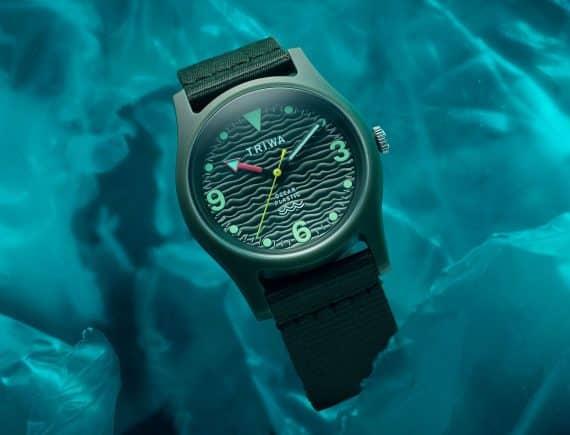 ny kollektion av klockor från triwa gjord av havsplast