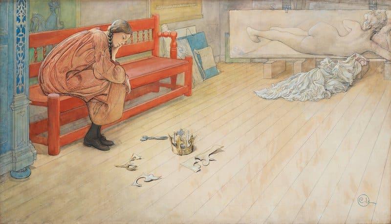 carl Larsson teaterfunderingar målning