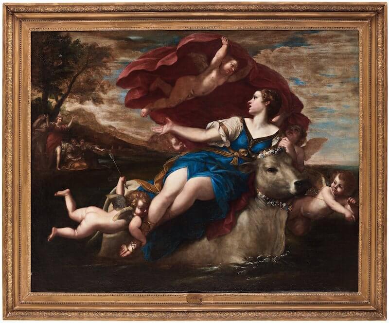 Francesco Albani europa och tjuren