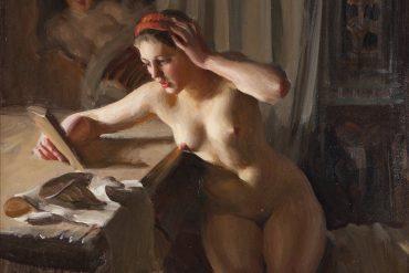 anders zorn målning gammal spegel på auktion i juni 2020