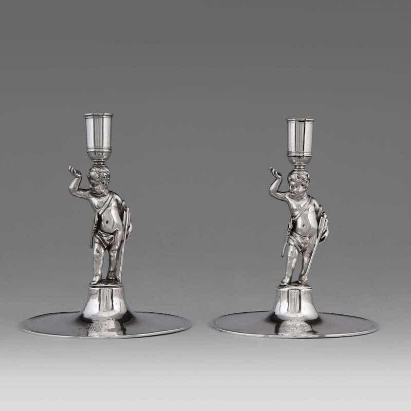 silverljusstakar 1700-tal