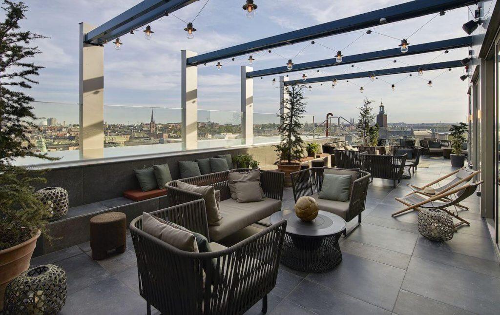 bästa hotell med takterass i stockholm