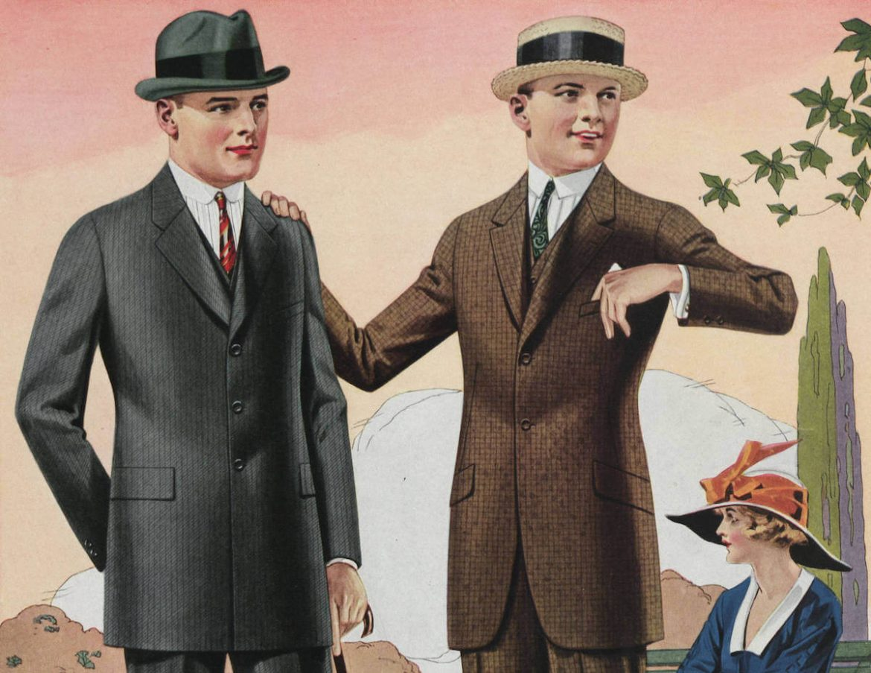 mode för män 1920-talet