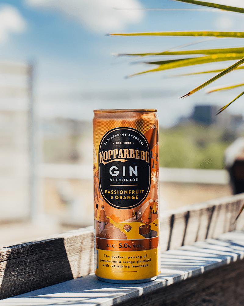 Kopparberg Gin&Lemonade ny alkoholläsk
