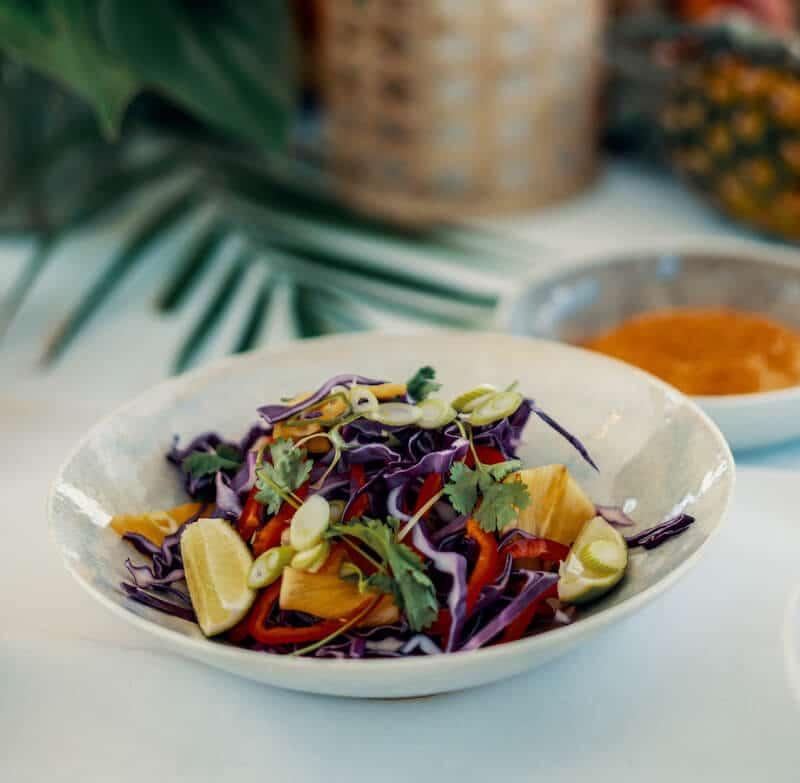 karibisk sallad recept kräftskiva
