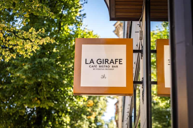 nya restaurangen la girafe på Kungsholmen i stockholm