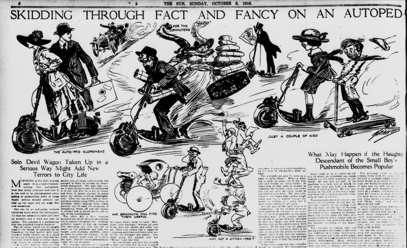 de första autopederna från början av 1900-talet