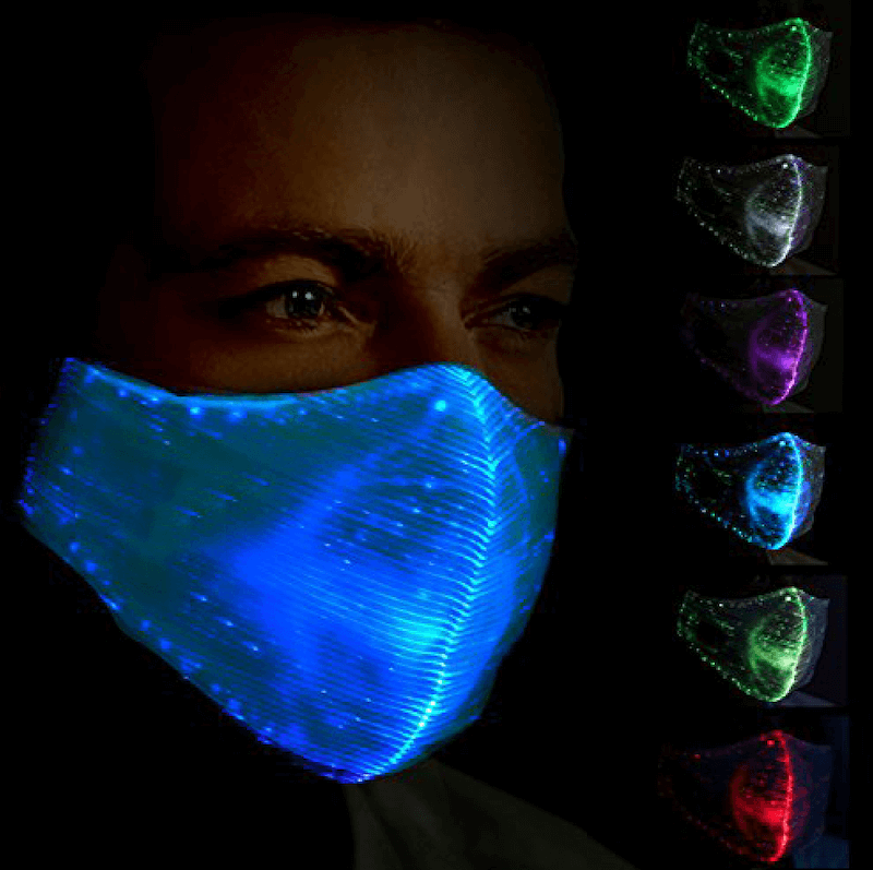 munskydd med led belysning