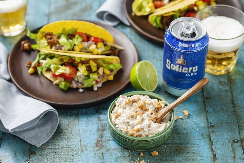 eldig jordnötsröra taco