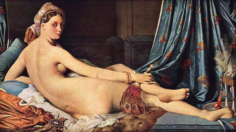 Den stora odalisken målning J.A.D Ingres