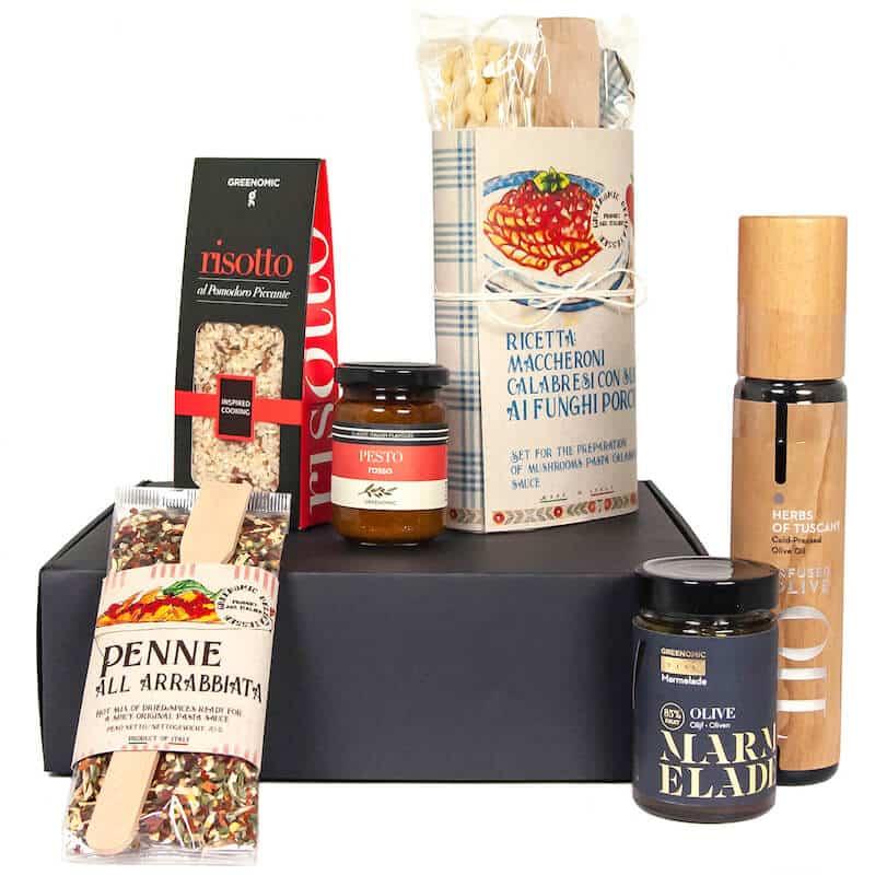 presentlåda med italienska delikatesser på nätet