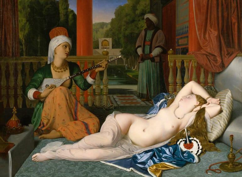 odalisk slavinna målning J.A.D Ingres