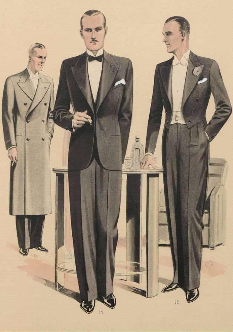 mode för män på 1930-talet