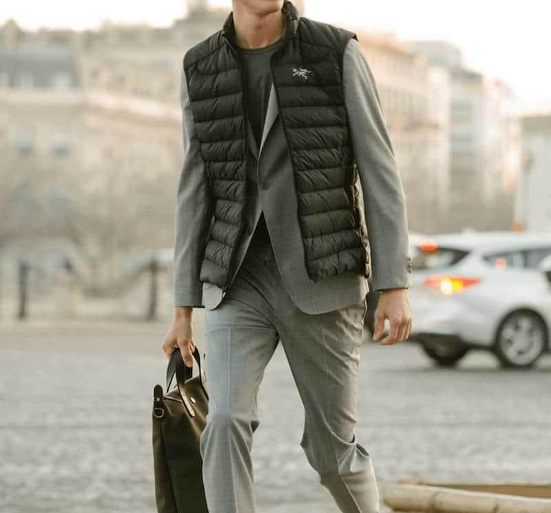 snyggaste mode för män 2021 yttervästar