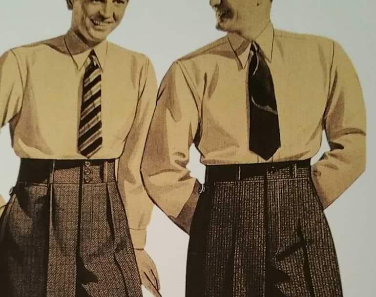 byxor med frontveck och hög midja