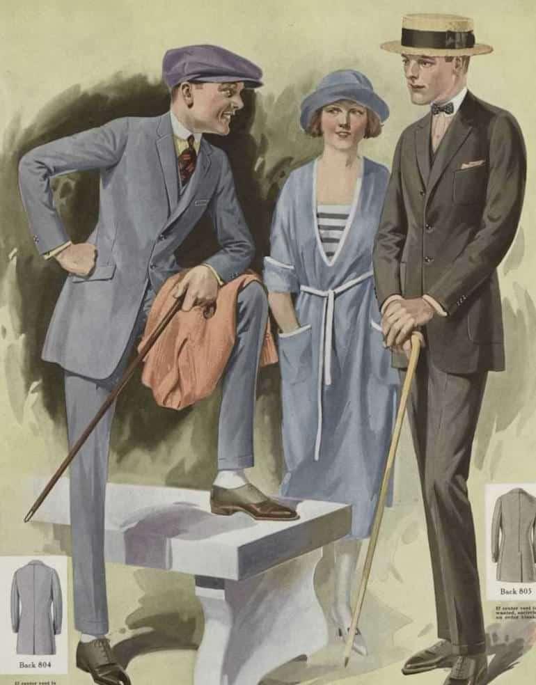 herrmode 1920-talet käpp