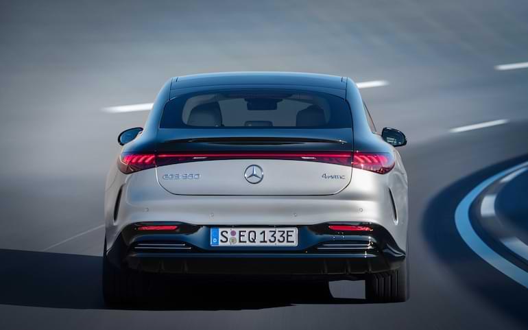 lansering av mercedes nya elbil eqs 2021