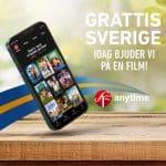 SF Anytime bjuder på film under svenska nationaldagen!