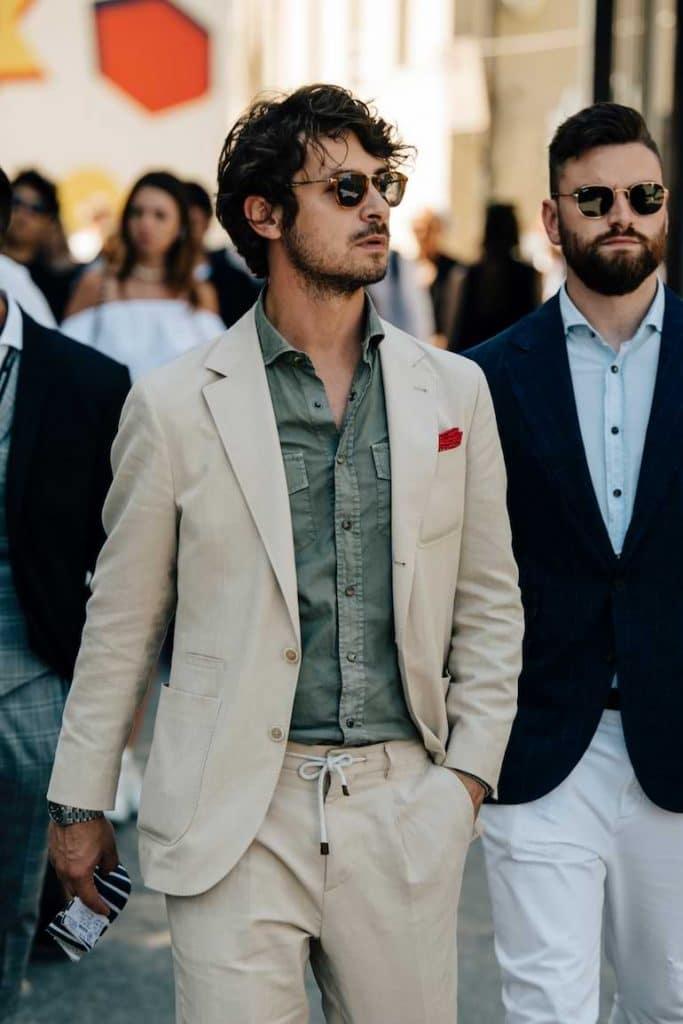 färgmatchning av kläder män