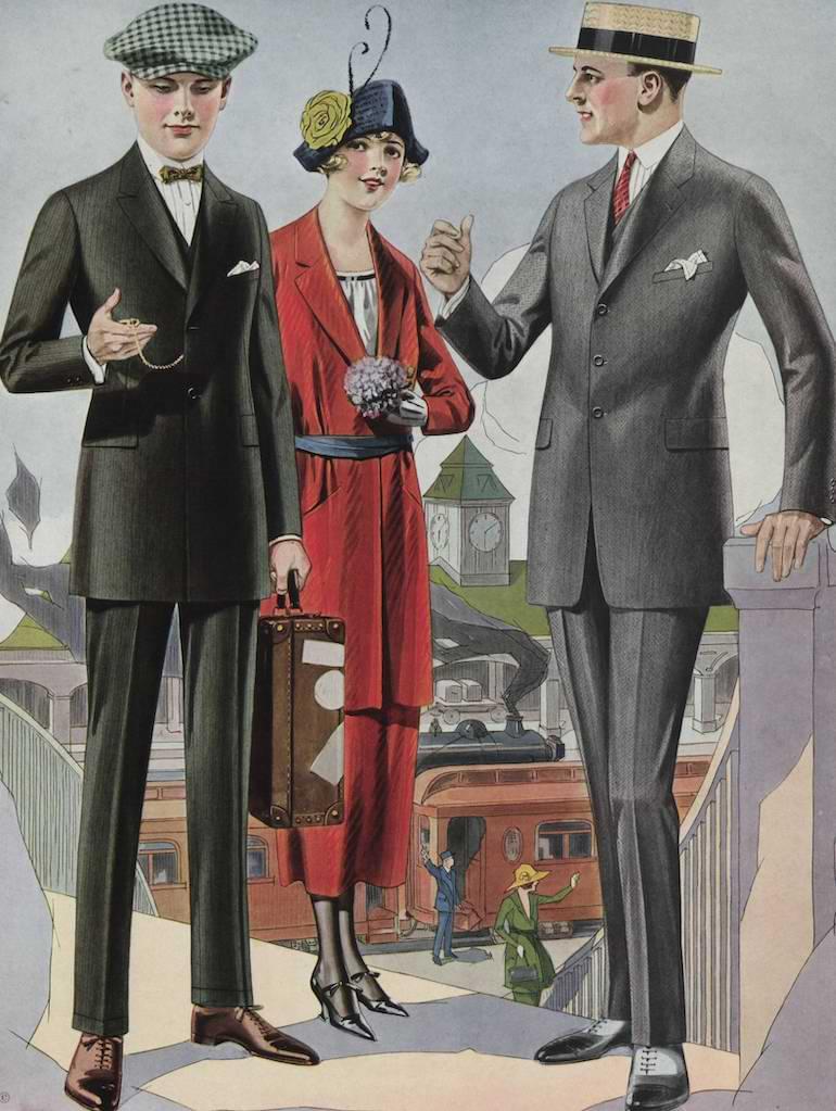 herrmode 1920-tal