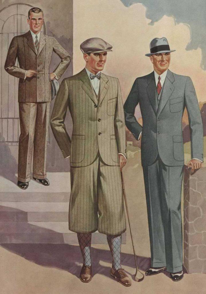 herrmode kostym 1930-talet