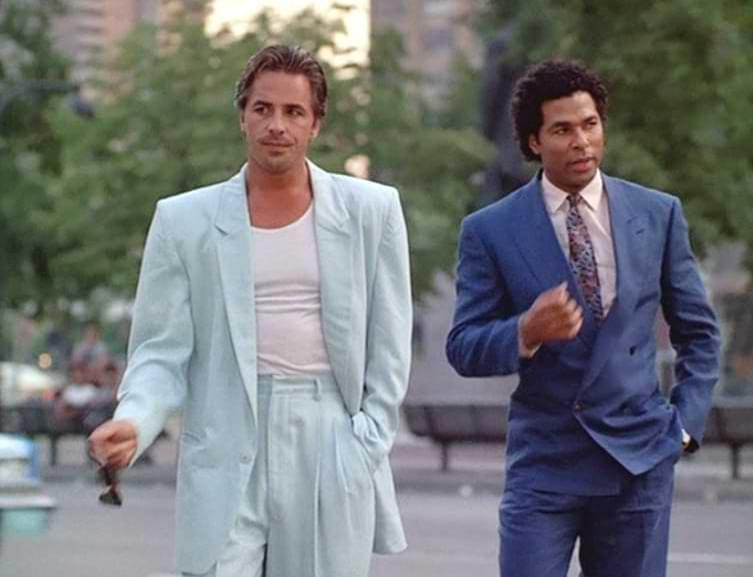 herrmode kostym 1980-tal
