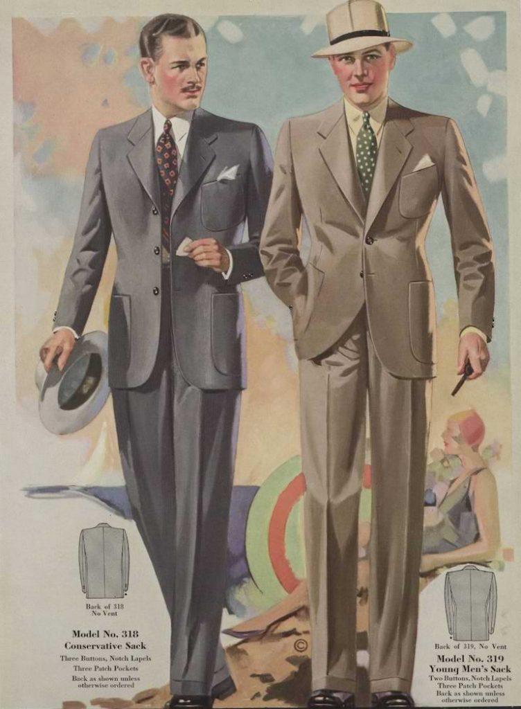 herrmode under 1930-talet
