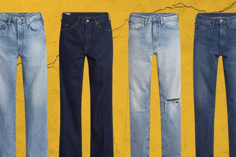 jeans hög midja för män höst vinter 2021
