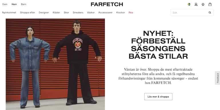farfetch bästa herrkläder online