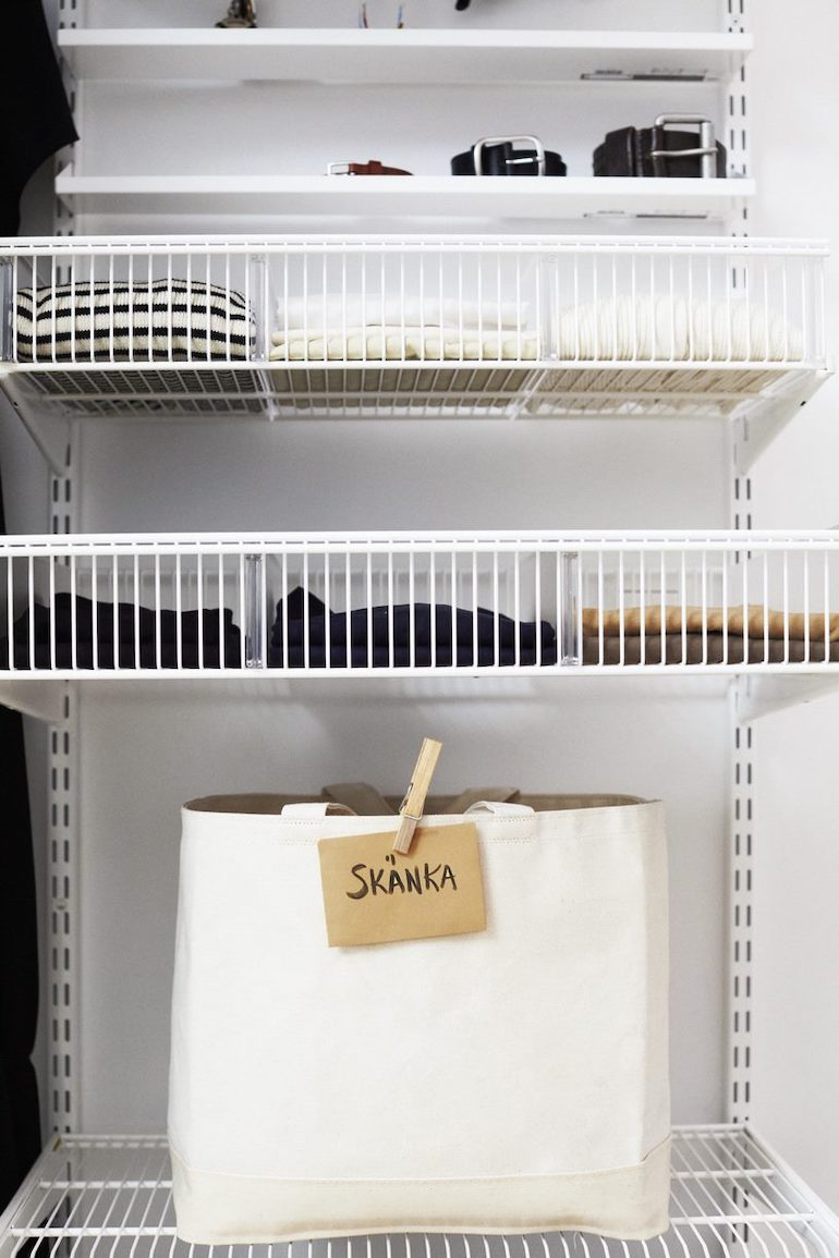 välorganiserad garderob