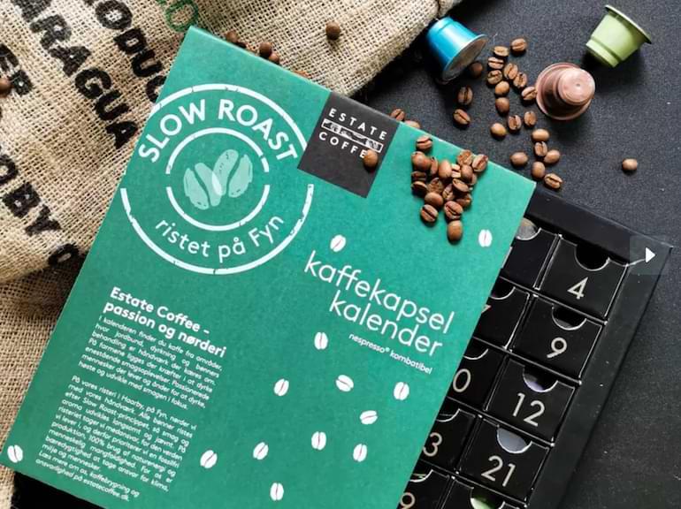 adventskalender för kaffekapslar 2021