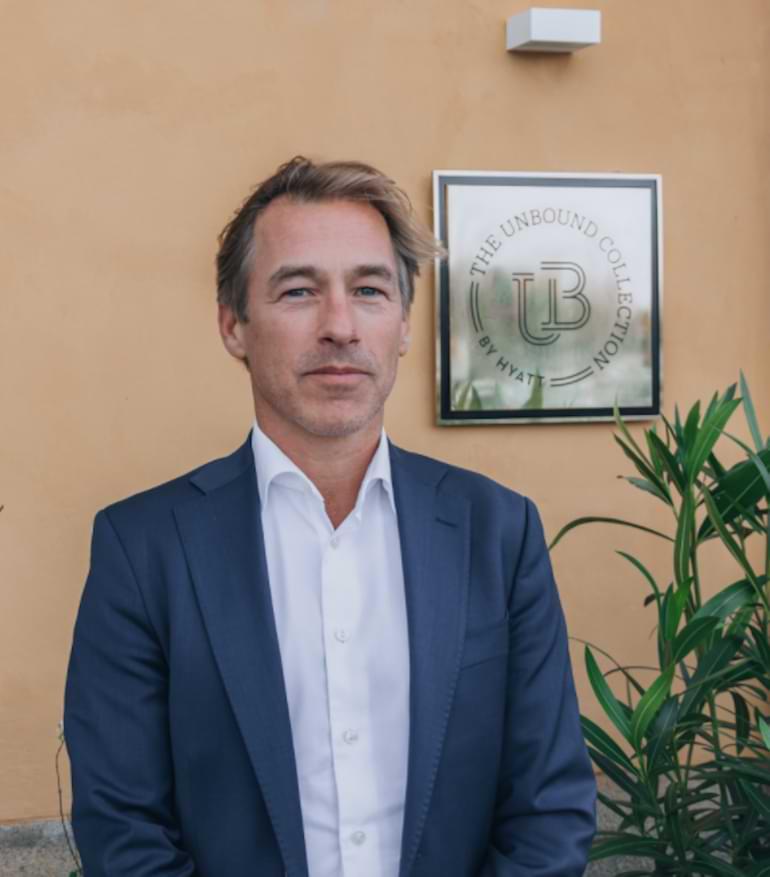 Tomas Tegfors, hotelldirektör på Hôtel Reisen
